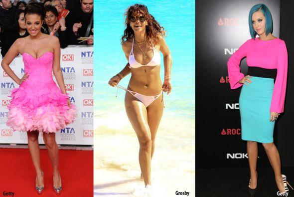 Tulisa Contostavlos, Rihanna y Katy Perry en los primeros lugares