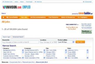El buscador de empleo de Univision.com tiene 1.5 millones de opciones de...