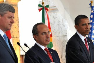 Stephen Harper, Felipe Calderón y Barack Obama se reunirán en Washington...