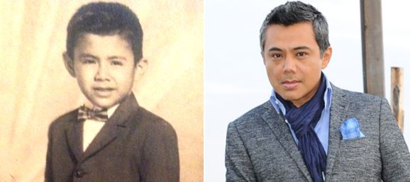 Raúl Brindis de niño y ahora