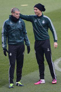 Los dos portugueses regresaron tras jugar con su selección y se entrenar...