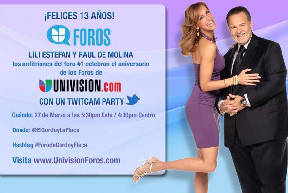 Los Foros deUnivision.comcumplen 13 años y nadie mejor para celebrar s...