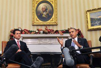 El presidente de México, Enrique Peña Nieto, durante una visita al presi...
