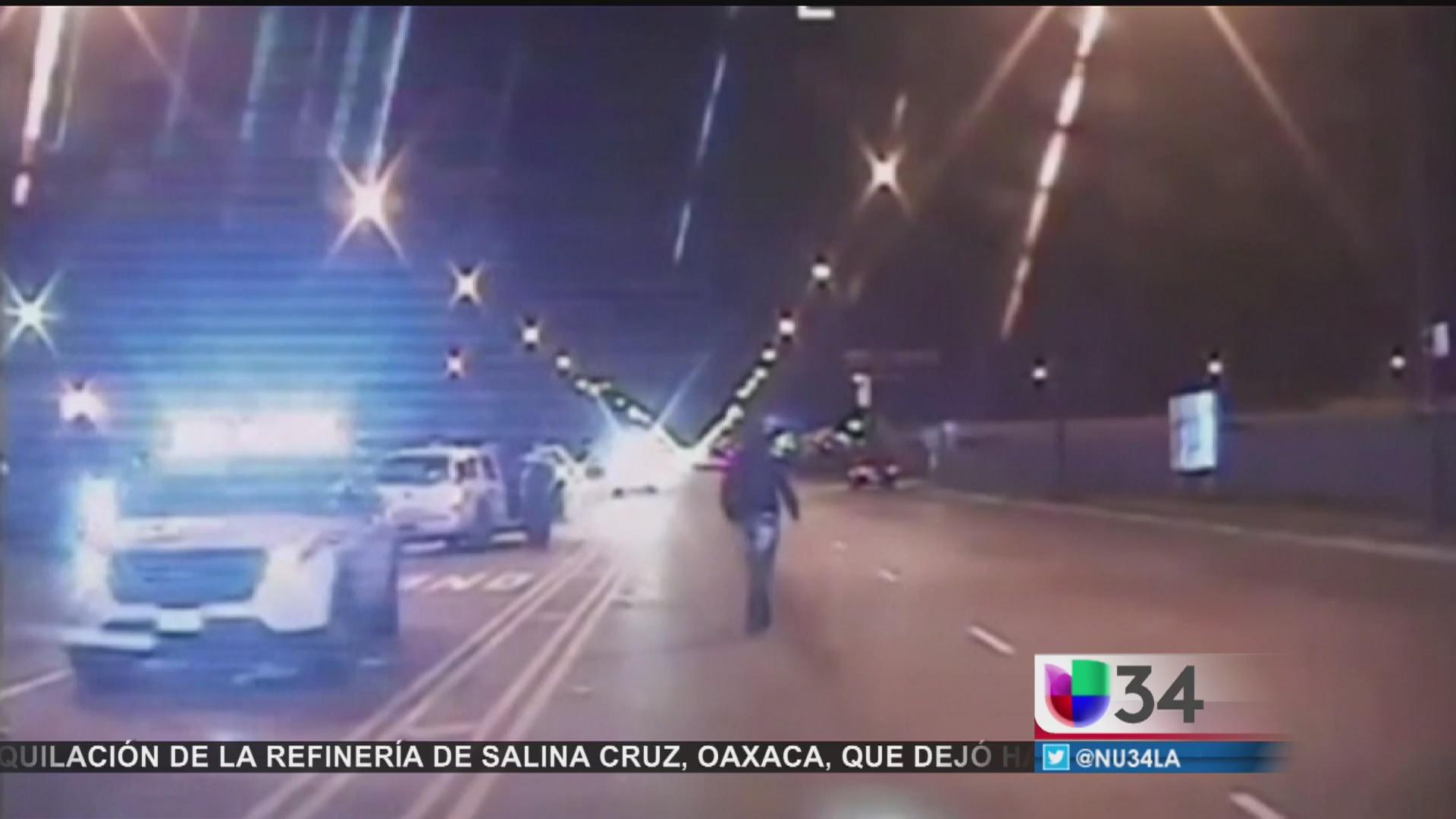 Revelan video de muerte de joven a manos de policía