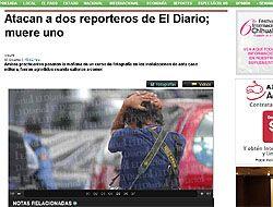 Así registró El Diario de Juárez la noticia del ataque a dos de sus peri...