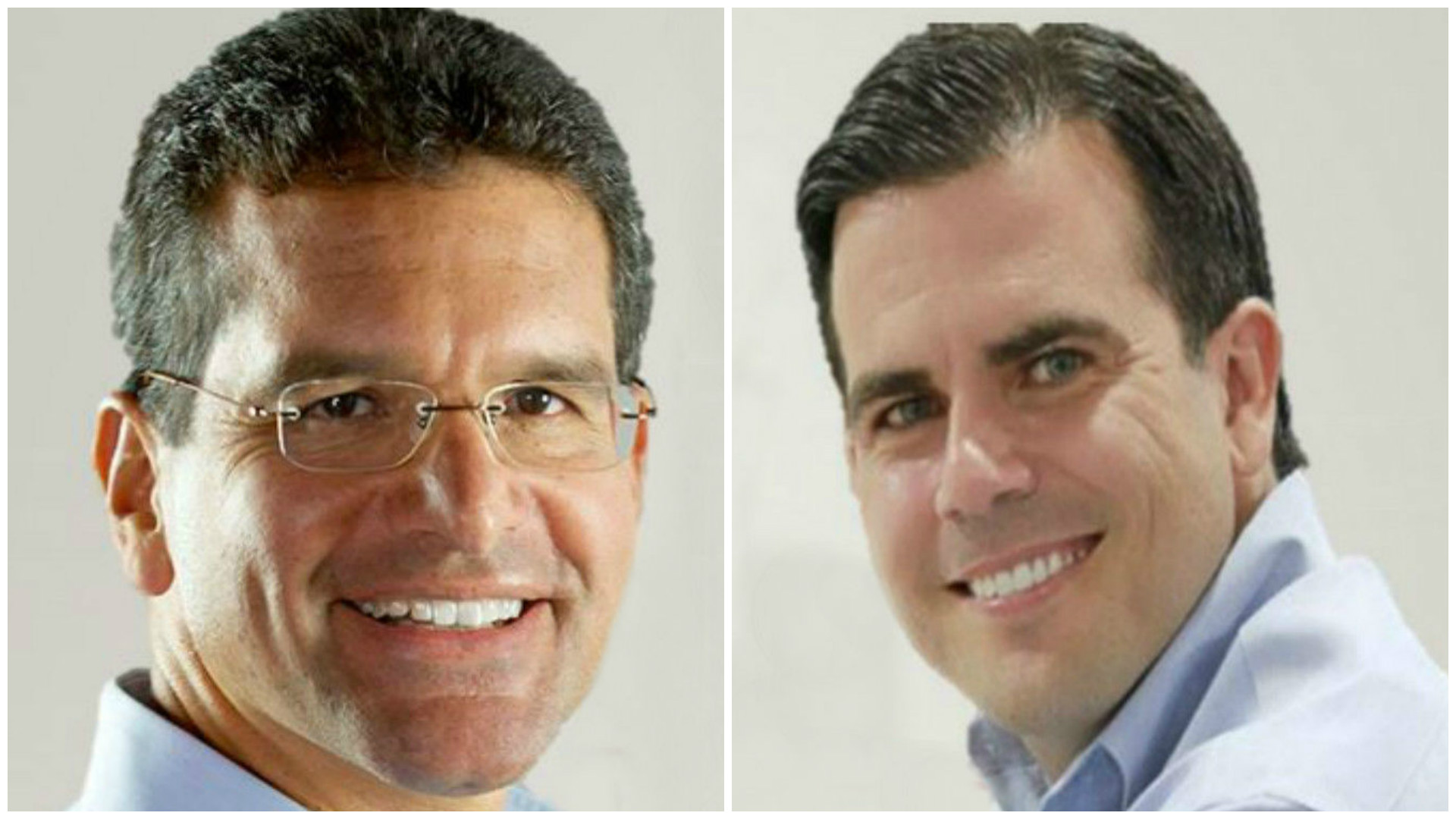 Pedro Pierluisi (izq) y Ricardo Rosselló (der) buscan la candidatura a l...