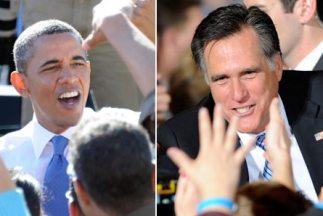 Barack Obama y Mitt Romney llegan al final de la carrera en uno de los d...