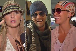 Marjorie, Mané y María Elisa en el aeropuerto de Miami.