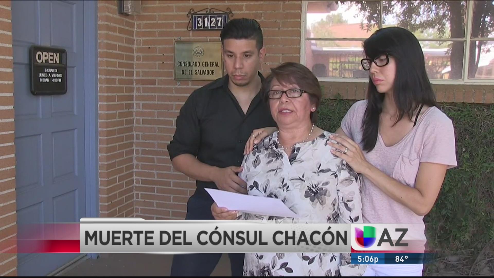 Familiares del cónsul Chacón hablan sobre su muerte