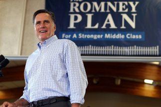Las declaraciones de Romney se producen después de que se conociera el p...
