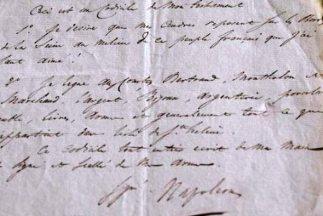 Los ingleses incautaron el original del testamento, pero las últimas vol...