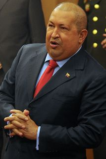 El presidente venezolano, Hugo Chávez visitó iglesia para dar las gracia...