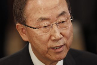 El secretario general de la ONU,Ban Ki-moon.