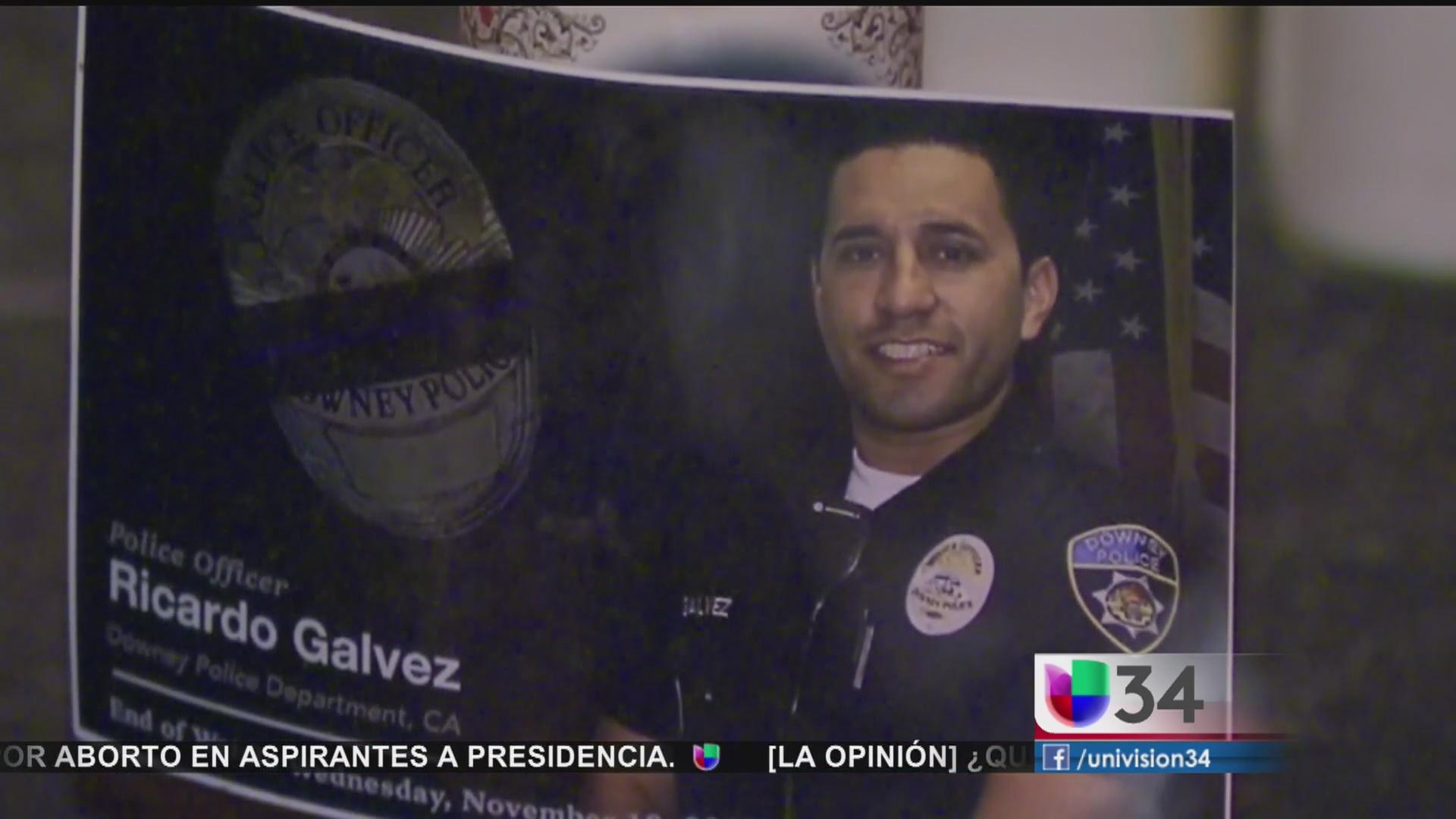 Comunidad conmemoró al policía Ricardo Gálvez