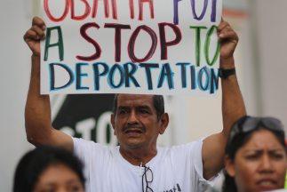 Marcha de inmigrantes en apoyo a la reforma migratoria.