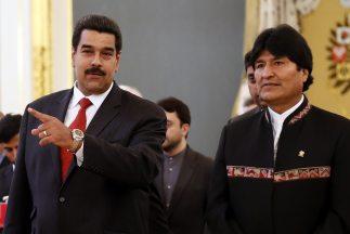 Evo Morales y Nicolás Maduro en su visita a Rusia.