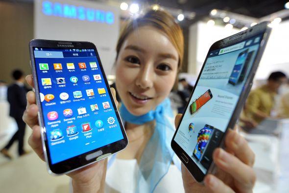 El último teléfono presentado por Samsung fue el Galaxy Round.