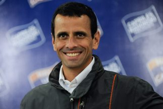Henrique Capriles, candidato opositor a la presidencia de Venezuela.