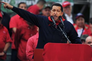 El presidente de Venezuela, Hugo Chávez, estaría acusado de financiamien...