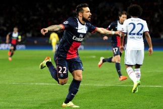 Lavezzi hizo el primer gol para los parisinos, que llegarán a Londres co...