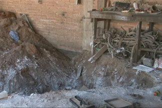 Cadáveres exhumados de fosa clandestina