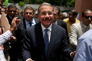 El candidato a la Presidencia de República Dominicana Danilo Medina, del...