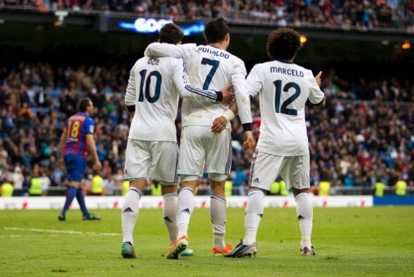 Triunfo final del Real MAdrid por goleada.