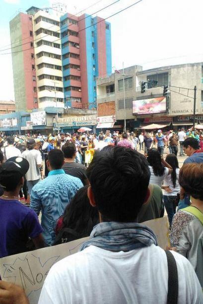 Manifestaciones en Maturin,estado de Monagas. Fotografía publicada en T...