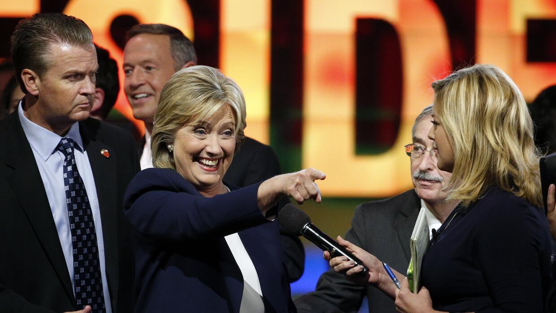 Hillary Clinton al término del debate