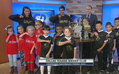 Dallas Texans Soccer campeones torneo 3vs3