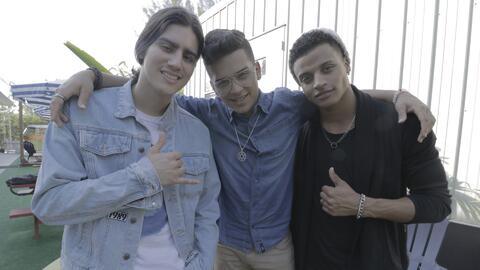 "Félix, Fabyán y Christian de La Banda le cantaron ""Las mañanitas"" a Rubí"