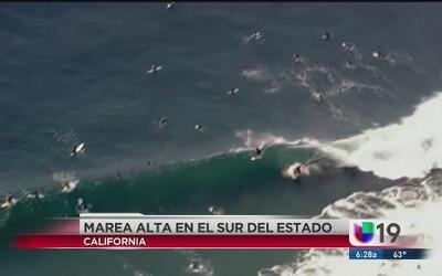 Se esperan olas de 15 pies de altura en California