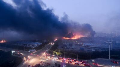 Desolador panorama tras explosión en China