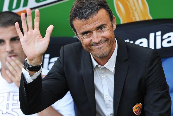 El técnico español Luis Enrique esperaba lograr un triunfo...