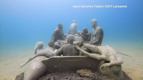 El escultor británico Jason deCaires Taylor crea obras de arte que queda...
