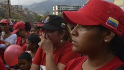 Seguidores del presidente fallecido Hugo Chávez.