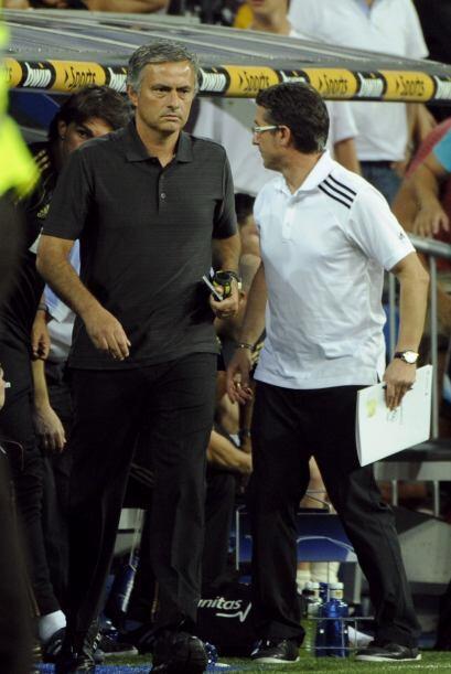 Mourinho y los suyos sacaban el marcador.