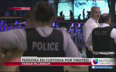 Un sujeto en custodia de la policía por tiroteo en Millennium Park