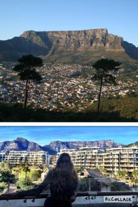 Desde el cuarto de Lili se podía ver la Table Mountain en Cape Town.