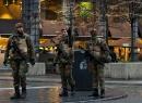 Militares en calles de Bruselas