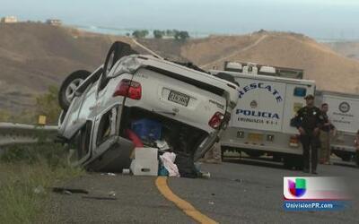 Un muerto y 5 heridos en accidente vehicular en el expreso de Cayey a Sa...