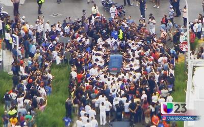 Compañeros y fanáticos se despiden de José Fernández en el Marlins Park