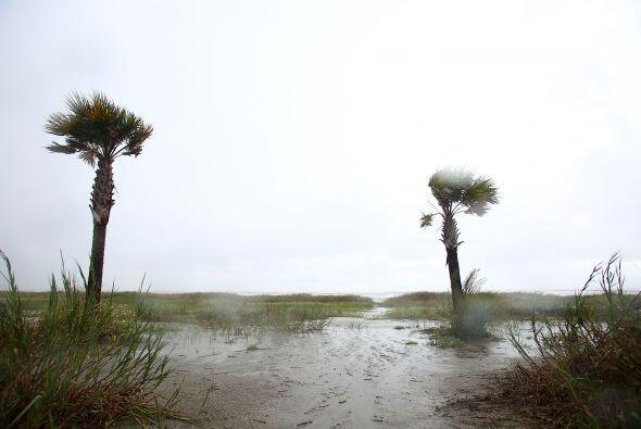 Las imágenes de residentes de la zonas bajas de la costa de Louis...