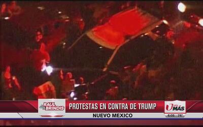 Protestas en contra de Trump en Nuevo México
