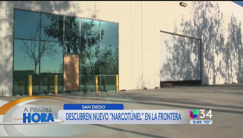 Descubren nuevo 'narcotúnel' en la frontera con San Diego