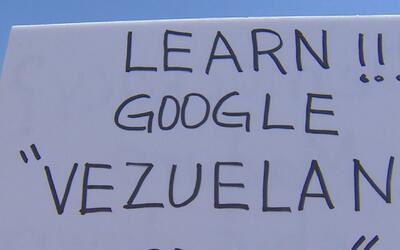 Venezolanos en Houston protestan en contra de Nicolás Maduro