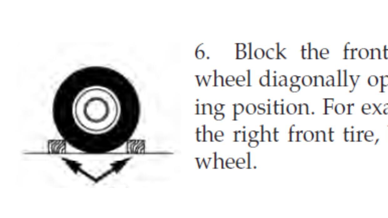 Instrucciones para el uso de las cuñas para las ruedas del Dodge Charger...