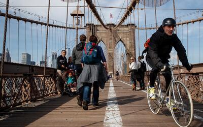 Neoyorquinos celebraron el Día de la Tierra con una jornada sin autos