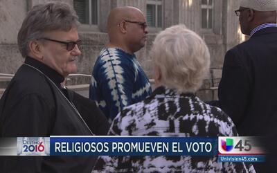 Religiosos promueven el voto