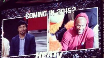 Pacquiao y Mayweather JR. se encontraron en Miami (Foto: Twitter).